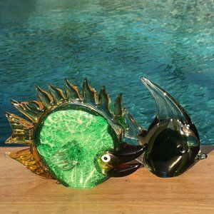Other - Glass Blown Fish Figurines Home Decor Set